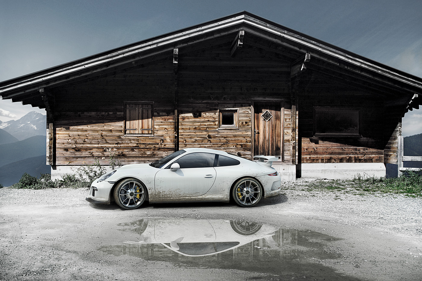 Jesse Zamjahn Pixteur 3D  CGI of Porsche 911 from CADs files