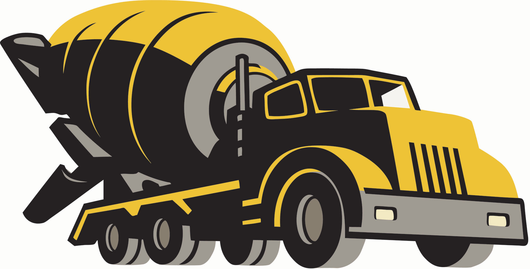 Concrete truck Tom Patric Illustration