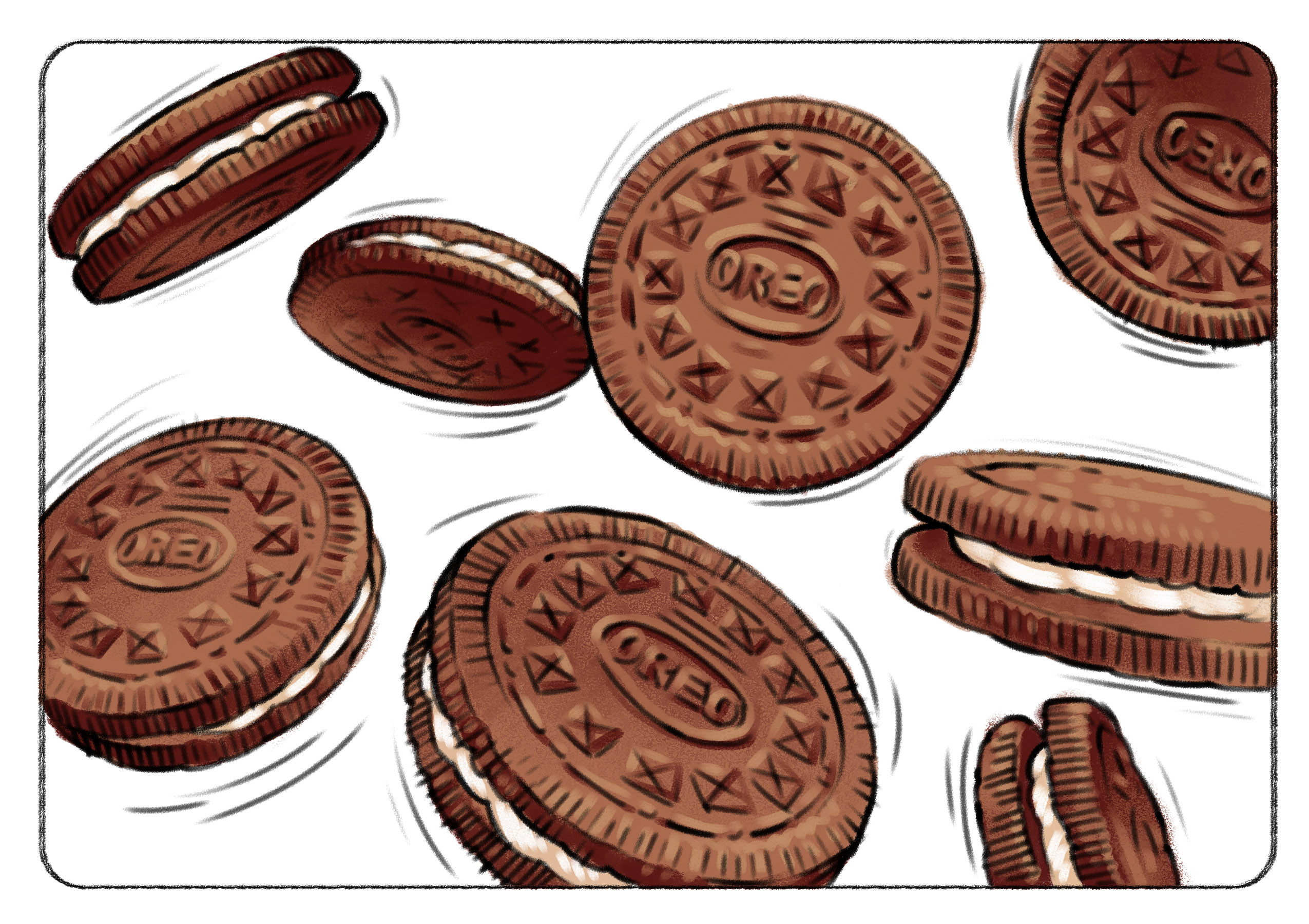 Mixins-Oreos Keith Ward Client Comp Illustrations