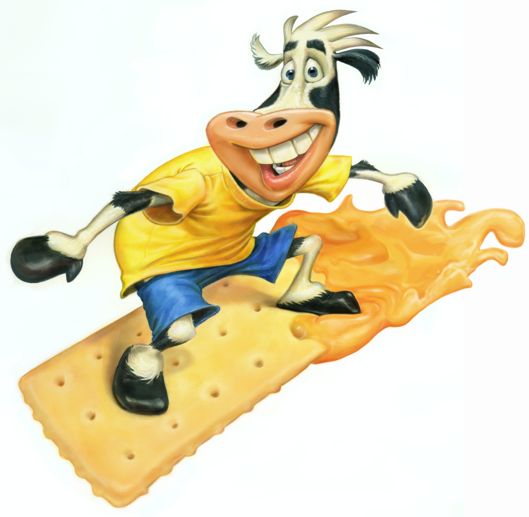 Sargent Cheese Cow Surfing